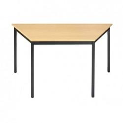 SODEMATUB Table de réunion 147THN, trapézoidale, hêtre/noir