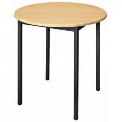 SODEMATUB Table universelle 80ROHN, rond, 800 mm, hêtre/noir