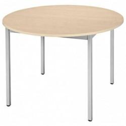 SODEMATUB Table universelle 110ROEA ronde Diamètre 1100 mm érable/alu