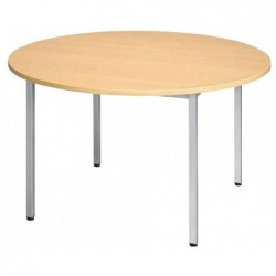 SODEMATUB table universelle 110ROHA, 1.100 mm, hêtre/alu