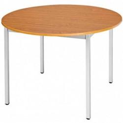 SODEMATUB table universelle 110ROMA, 1.100 mm, mérisier/alu