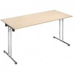 """SODEMATUB Table à pieds pliants Chromeline1 """"TPCH167E"""", érable"""