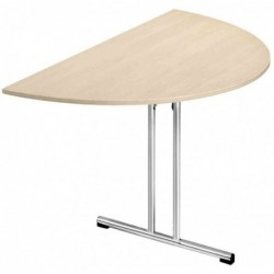 SODEMATUB Table pliante Chromeline1 Demi-rond Diam 140 cm Erable