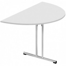 SODEMATUB Table pliante Chromeline1, demi-rond, gris