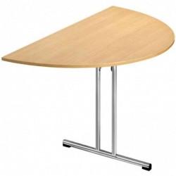 SODEMATUB Table pliante Chromeline1 Diam 1400 mm demi-ronde Hêtre