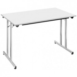 SODEMATUB Table pliante TPMU127GA, 1.200 x 700 mm, gris/alu