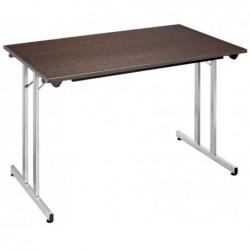 SODEMATUB Table pliante TPMU127WA, 1.200 x 700 mm, wenge/alu