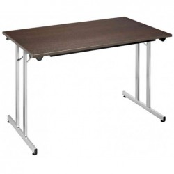 SODEMATUB Table pliante TPMU128WA, 1.200 x 800 mm,wenge/alu
