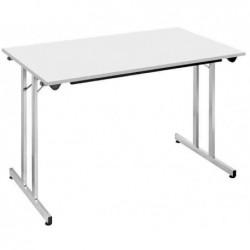 SODEMATUB Table pliante plateau 19 mm 1400 x 800 mm Gris / Alu