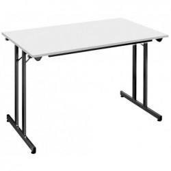 SODEMATUB Table pliante TPMU148GN, 1.400 x 800 mm, gris/noir