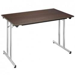 SODEMATUB Table pliante Rectangulaire 1400 x 800 mm  Wenge - Alu