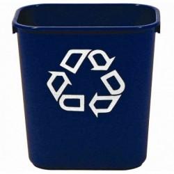RUBBERMAID Corbeille à papier 12,9 litres rectangulaire Bleu