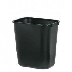 RUBBERMAID Corbeille à papier 26,6 litres Rectangulaire PE Noir