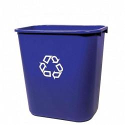 RUBBERMAID Corbeille à papier 26,6 litres Rectangulaire PE Bleu
