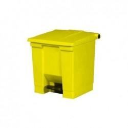 RUBBERMAID Poubelle Collecteur à pédale Step-On 30,3 litres H 44 cm Jaune