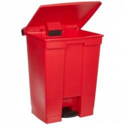 RUBBERMAID Poubelle Collecteur à pédale Step-On 68,1 litres H 67,3 cm Rouge