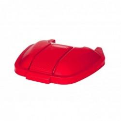 RUBBERMAID Couvercle pour collecteur à déchet à roues Rouge