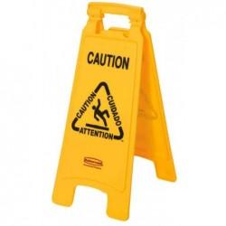"""RUBBERMAID Panneau d'avertissement """"Caution"""", trilingue"""