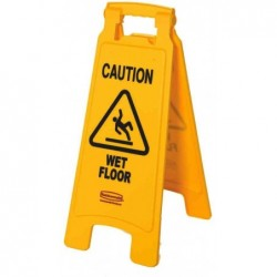 "RUBBERMAID Panneau d'avertissement ""Caution Wet Floor"""