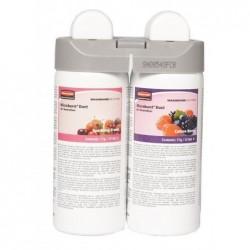 RUBBERMAID Pack 2 recharges Désodorisant pour Microburst Duet Sparkling Fruits et Coton Berry
