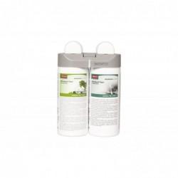 RUBBERMAID Pack 2 recharges Désodorisant pour Microburst Duet Floral Cascade et Vibrant Sense