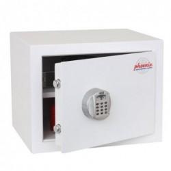 PHOENIX Coffre Fort de sécurité gamme FORTRESS série SS180E. Serrure electronique. 28L. Fixation au sol. Blanc