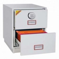 PHOENIX Classeur Ignifuge EXCEL FIRE FILE Série FS2240K Serrure électronique haute sécurité Blanc. Fixation au sol