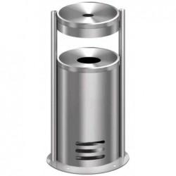 KERKMANN Cendrier poubelle tec-art Ronde H 64 cm Diam 32 cm Argent