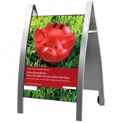 KERKMANN Porte-affiches Stop Trottoir BOSTON A1 Mobile Alu
