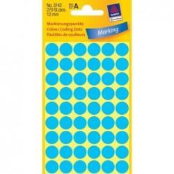 AVERY ZWECKFORM paquet de 270 pastilles adhésives, diamètre 12 mm, bleues