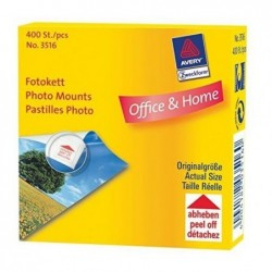 AVERY ZWECKFORM Boite de 400 pastilles adhésives photos 12 x 12 mm