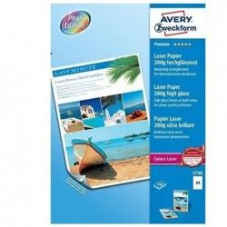 AVERY ZWECKFORM Boite de 100 feuilles Papier photo Colour laser Premium 200 g Blanc Brillant