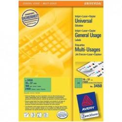 AVERY ZWECKFORM étiquettes universelles, 105 x 37 mm, bleu