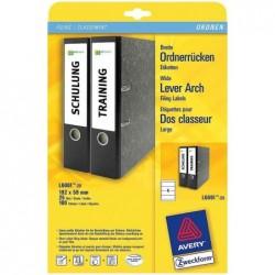 AVERY ZWECKFORM étiquettes pour dos classeur, 59 x 192 mm, blanc, sur 100 F A4