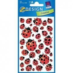 AVERY ZWECKFORM sticker Z-Design COCCINELLE 3 feuilles de 38