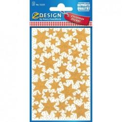 "AVERY ZWECKFORM Sticker de Noel ZDesign ""Etoiles"" Or 2 x 43 Stickers"