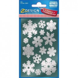 AVERY ZWECKFORM ZDesign Etiquette Noël Flocon de neige 2 feuilles de 14