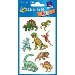 """AVERY ZWECKFORM Stickers Z-Design Kids """"Dinosaures"""" 3 feuiiles de 8"""