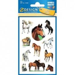 AVERY ZWECKFORM Etiquettes Z-Design Papier scintillant Chevaux 2 x 11 Stickers