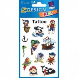 """AVERY ZWECKFORM Tatouages pour enfants """"pirates"""" 1 feuille de 12"""