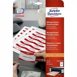 AVERY ZWECKFORM Paquet de 200 Étiquettes imprimables pour badges 90 x 54 mm 190 g blanc