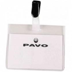 PAVO Bte de 50 Porte-badge avec clip 60 x 90 mm Ttransparent