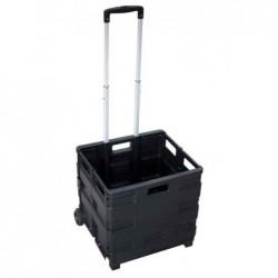 PAVO Chariot de transport avec caisse pliante Plastique capacité 35 Kg