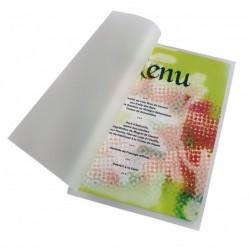 PAVO Boîte de 100 Pochettes de plastification à chaud mat 2 x 100 microns A4 Transparent