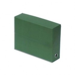 FAST Boite archive transfert Toilée 34x25 cm A4 Dos de 9 cm Vert foncé à l'unité