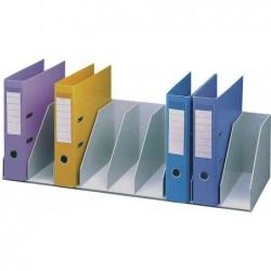 PAPERFLOW Trieur 9 cases fixes pour classeurs à levier standard -L80,2 x H21 x P29 cm gris