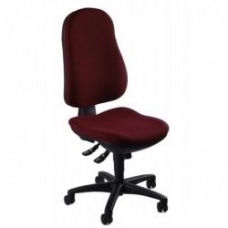 """TOPSTAR Chaise pivotante de bureau """"Support SY"""", tissu couleur Bordeaux"""