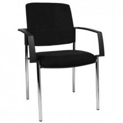 """TOPSTAR Lot de 2 chaises de bureau """"rembourrage BtoB 10"""", noir"""