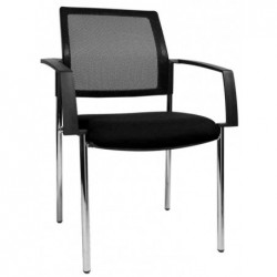 "TOPSTAR Lot de 2 chaises de bureau ""filet BtoB 10"", noir"