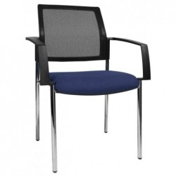 "TOPSTAR Lot de 2 chaises de bureau ""filet BtoB 10"", bleu"